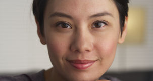 Close up of Asian woman's face Royalty Free Stock Images