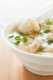 Close-up asian wonton soup Stock Image
