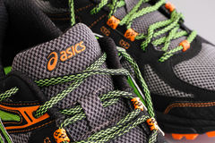 Close-up of Asics snickers Royalty Free Stock Images