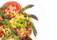 Close up of asparagus salad. Royalty Free Stock Image