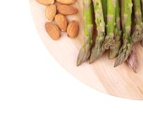 Close up of asparagus salad. Royalty Free Stock Images