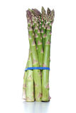 Close up of asparagus on white background Royalty Free Stock Images