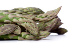 Close up of asparagus on white background Stock Photography