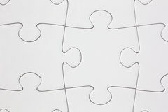 Blank Jigsaw Puzzle Close-up Stock Images