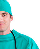 Close-up of an assertive surgeon Royalty Free Stock Photo
