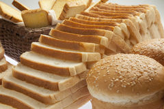 Close up of assorted bread Stock Photo