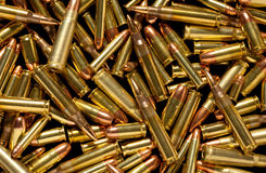 Close-up of assorted bullets. On black background Stock Images