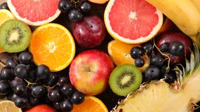 Assorted fruit. Close up on assorted fruit Royalty Free Stock Images