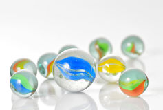 Close up  of assorted marbles Stock Images