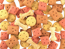 Close up of assorted shaped dog biscuits Stock Images