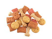 Close up of assorted shaped dog biscuits Royalty Free Stock Image