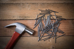 Close up of assorted work tools Royalty Free Stock Images