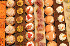Close up of an assortment of petits fours Royalty Free Stock Photo