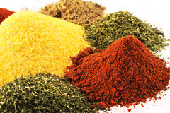 Close Up of an Assortment of Spices Stock Images