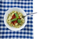 Close up of asta served in bowl on napkin Royalty Free Stock Photography