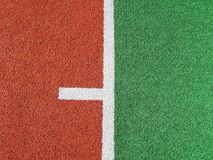 A close up of an astro turf  sports field Stock Image