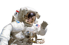Close up of an astronaut isolated on white background ...