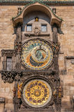 Close up at Astronomical Clock. Astronomical Clock in the Old Town Square, Prague, Czech Republic Royalty Free Stock Image