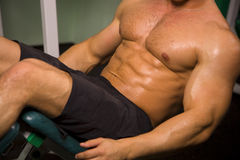 Close-up of an athletic man. Close-up of an anonymous athletic man stock images