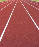 Close up on athletics track Royalty Free Stock Photography