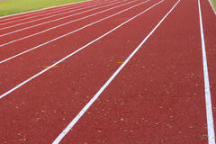 Close up on athletics track Stock Image
