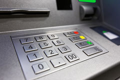 Close up of an ATM machine Royalty Free Stock Image