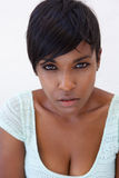 Close up attractive black female fashion model Royalty Free Stock Photos