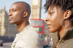 Couple on Westminster Bridge. Stock Image