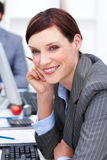 Close-up of an attractive businesswoman at work Royalty Free Stock Image