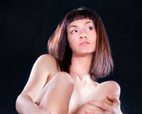 Close up Attractive emotion woman posing Stock Images