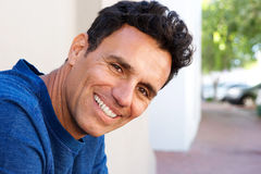 Close up attractive mature man smiling Royalty Free Stock Photo