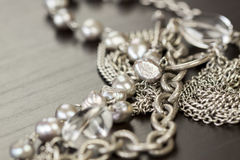 Close up of attractive shiny beads Stock Photo