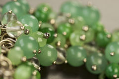 Close up of attractive shiny beads Royalty Free Stock Photography