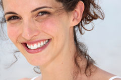 Woman laughing. Close-up of attractive women laughing Stock Photography