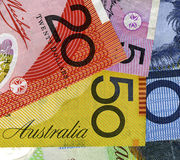 Close up Austrtalian bank notes Royalty Free Stock Image