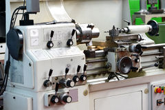 Close Up of Automated Lathe Machine Royalty Free Stock Photos