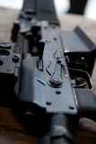 Close-up of automatic weapon Royalty Free Stock Photos