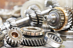 Close-up of automobile engine gears Stock Photography