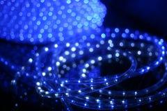 Close-up azul da fita dos diods imagem de stock royalty free