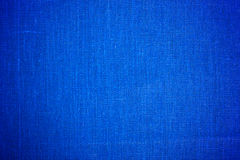 Close up azul do fundo da tela de pano Foto de Stock Royalty Free