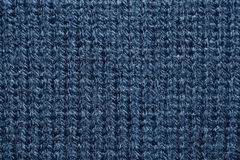 Close up azure knitwear texture abstract background Royalty Free Stock Images