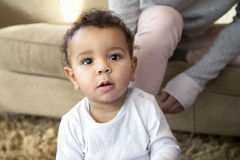 Close up of a baby boy Royalty Free Stock Images
