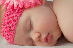 Close Up of Baby Girls Face Sleeping Royalty Free Stock Photos