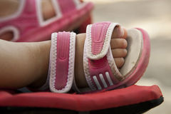Close up baby girls feet Royalty Free Stock Photo