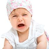 Close up of baby gril crying. Stock Photography