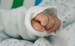 Close up of baby's hand Royalty Free Stock Images