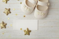 Baby shoes. Close-up of baby shoes Stock Photography