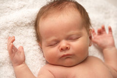 Close Up Of Baby Sleeping Royalty Free Stock Images