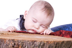 Close up on a Baby Sleeping Stock Photography