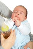 Close up of baby sleeping Stock Images